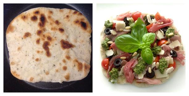 Piadina, Italiaans gegrild platbrood.