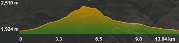 Perfil ruta Porté-Pimorent