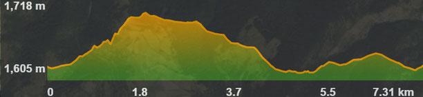 Perfil ruta circuit 8 BTT a Bolquera Les Artigues