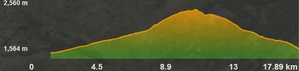 Perfil de la ruta Sant Martí d'Envalls- estany de Coll Roig