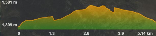 Perfil de la ruta de senderisme a peu circular de Sallagosa - Terres Vermelles (excursió)