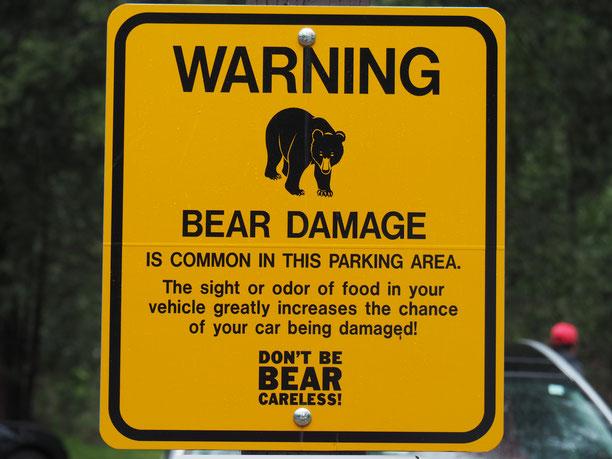 Wenn sie schon am Parkplatz davor warnen, was ist dann erst im Wald los...