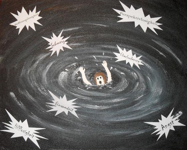 Damit unsere Kinder nicht im Strudel der Verzweiflung untergehen.
