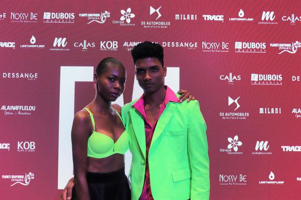 Alicia Korutos et Jordan Wassteinr, vainqueurs de la finale Elite Model Look Antilles-Guyane 2019.