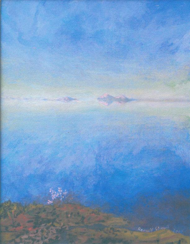 Inari-See, Landschaft, Malerei