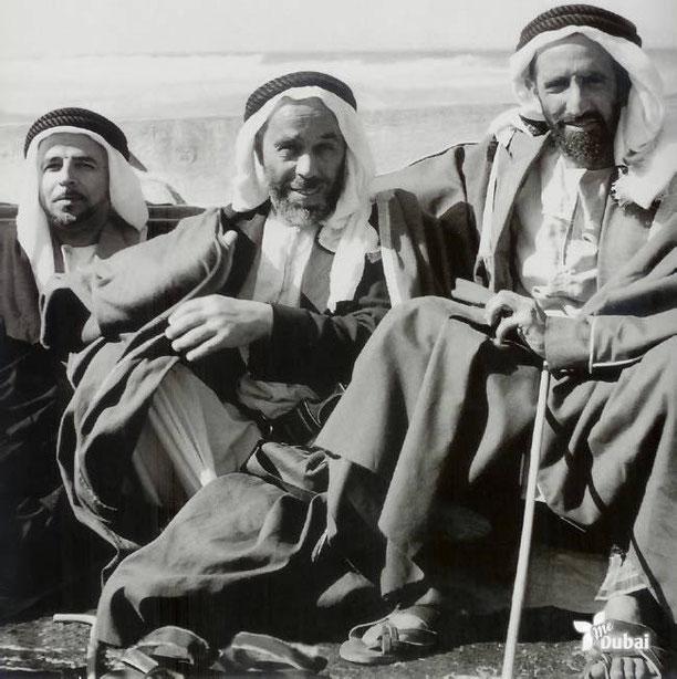 dte. à g.  SHEIKH RACHID BIN SAEED, HAMAD AL FUTTAIM, SAIF KALBAN