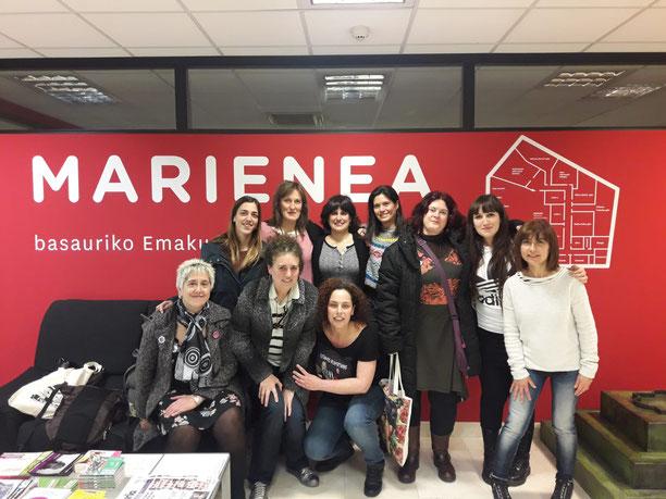 Marienea, Basauri, Casa de las Mujeres, hablar en público, estrategias feministas, miedos, espacio público, presentaciones