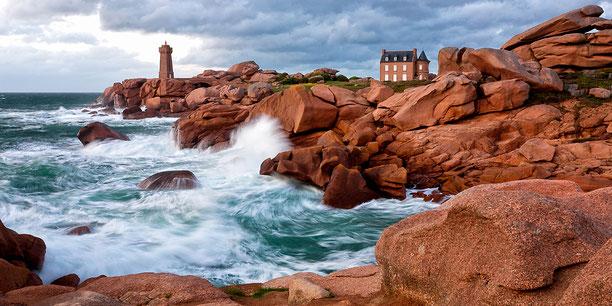 Bretagne maritime Architektur an der Küste