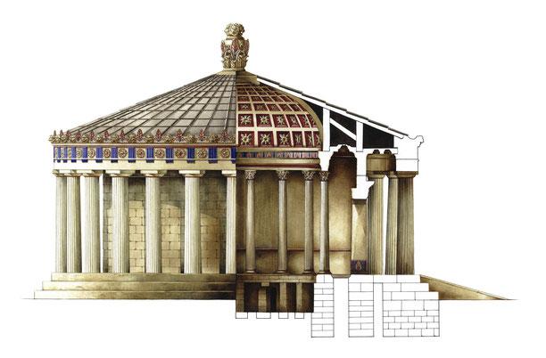 sezione del Tholos