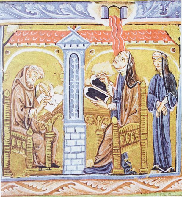 Codex Lucca, Autorenbild von Miniatur 1