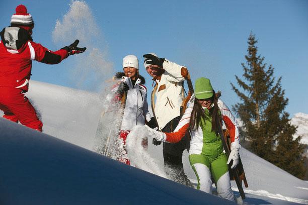Active Outdoor Wellnes im Reschnerhof am Reschenpass im Vinschgau, Südtirol: Aktiv dabei sein im Winterurlaub