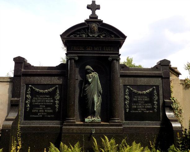 Taucherfriedhof Bautzen Grabmal Weigang Figur von Roeder Bild: Susann Wuschko
