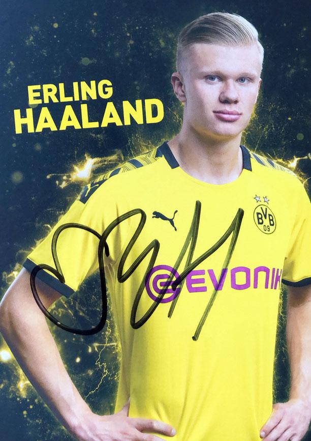 Autograph Erling Haaland Autogramm