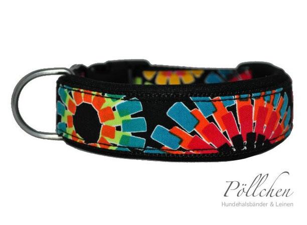 buntes Halsband in kräftigen Farben mit Neoprenunterfütterung