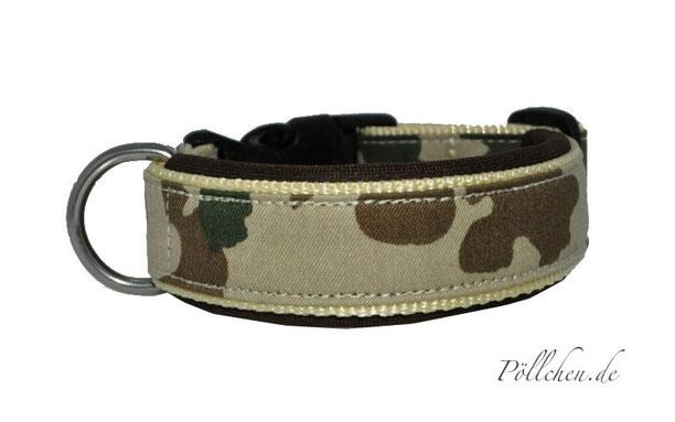 Halsband für Hunde original BW-Wüstentarn-Stoff - extrem robust