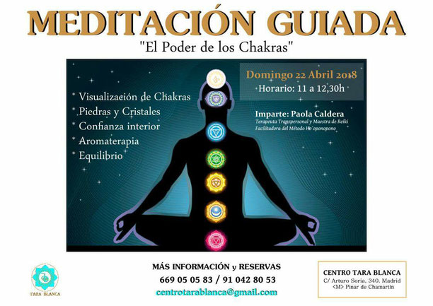 Meditación guiada el poder de los chakras