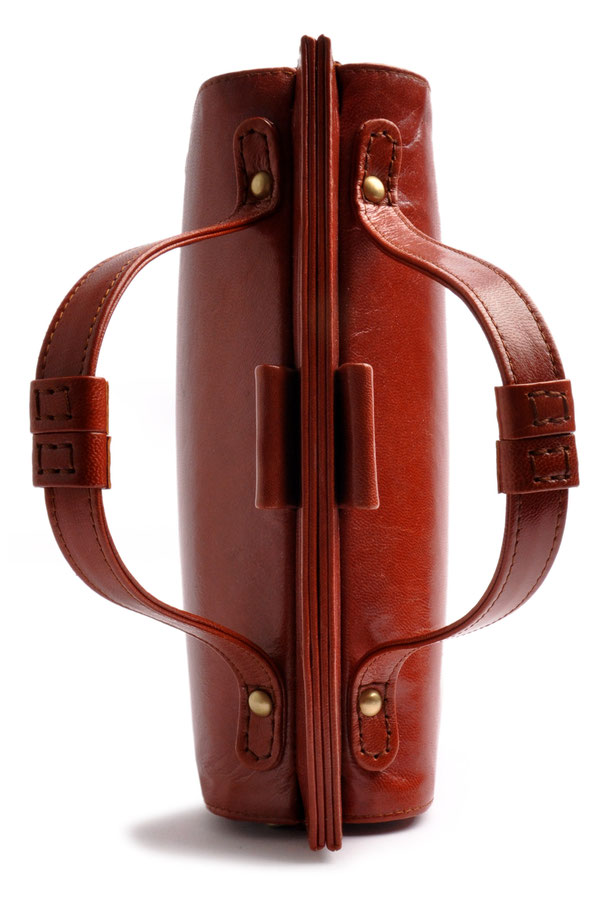 Ledertasche im Vintagestil cognac OSTWALD Traditional Craft