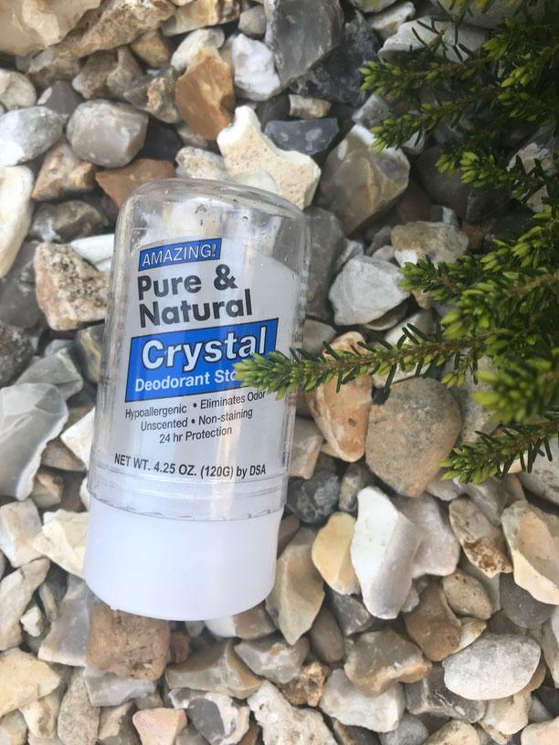 desodorante natural, desodorante sin quimicos, crystal deodorant, el mejor desodorante natural, como evitar el mal olor del sudor