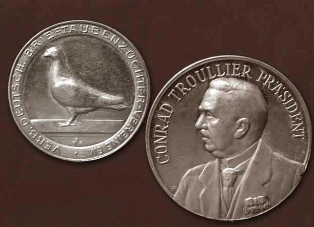 Medaille mit dem späteren Präsidenten Conrad Troullier aus Essen (vorher stellv. Präsident)