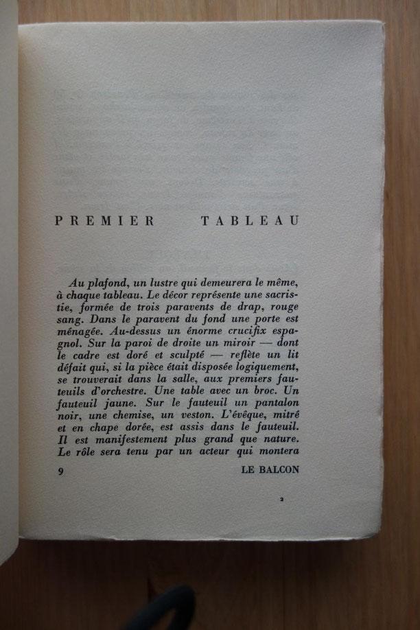 Jean GENET, Le Balcon, L'Arbalète, 1956, lithographie de Giacometti, édition originale, livre rare