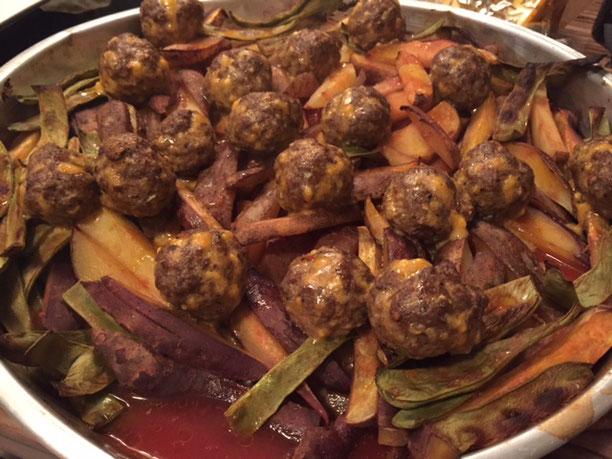Kartoffeln & Meatballs aus dem Ofen l Patates Kizartmasi