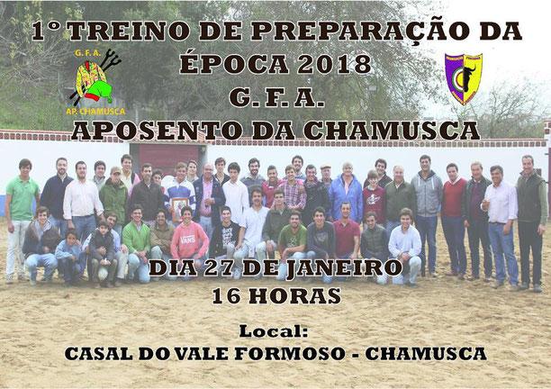 1º Treino da Temporada Casal Vale Formoso, casa do nosso Cabo Fundador Sr. Tiago Prestes 27 de Janeiro - Chamusca