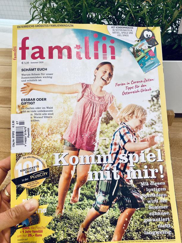 Interview Tanja Kieselbach mit Österreichs größten Familienmagazin familiii