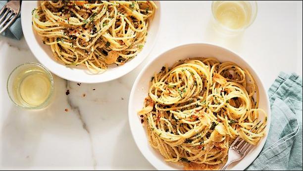 pappardelle aglio, olio e peperoncino