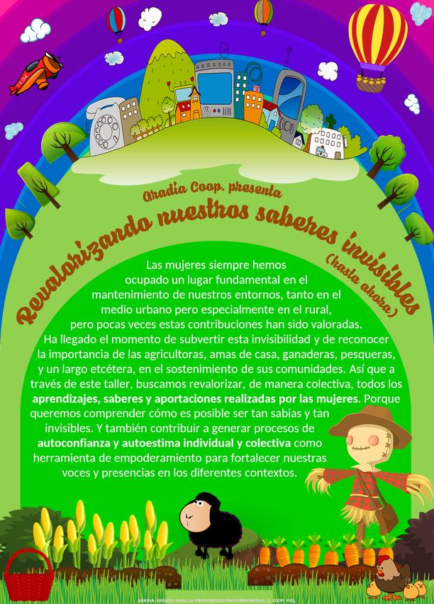 Mujeres Rurales; 15 de Octubre; Invisibilidad; Empoderamiento; Revalorización; discriminación de género; ruralidad; opresiones; saberes femeninos