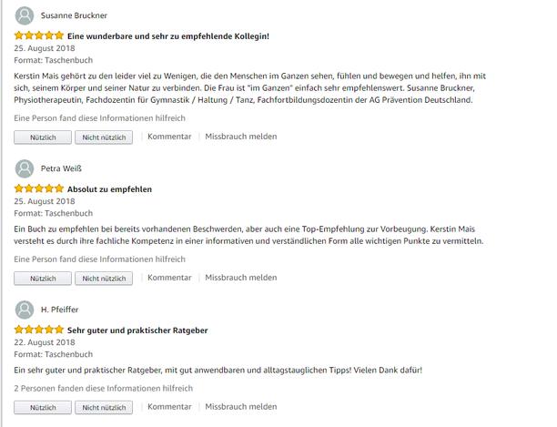 5 Sterne Bewertung auf Amazon
