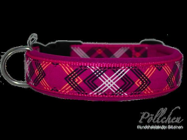 Halsband Blumen rosa