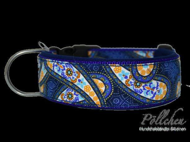 maßgefertigtes Halsband mit Paisleymuster - extra weich dank Neopren