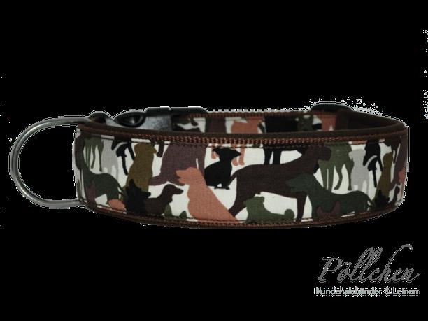 Halsband Tarnmuster/Camouflage mit vielen Hunderassen