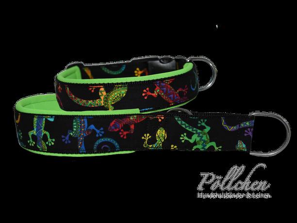 farbenfrohes Halsband für große und kleine Hunde auf Maß mit Neopren