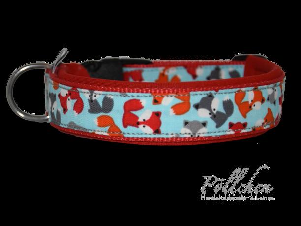 auf Maß gefertigtes Nylonhalsband für Hunde mit niedlichen Comicfüchsen