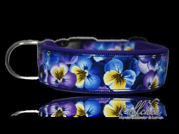 Stiefmütterchen Blumenhalsband - extra breit, extra stabil und sicher Übergröße