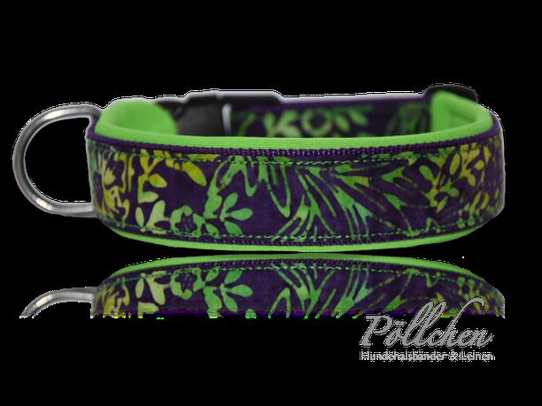 robustes Batik-Halsband mit Neopren für kleine und große Hunde - gebatikt