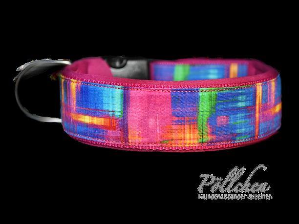 buntes Halsband Pinkes Halsband - extra breit, extra stabil und sicher Übergröße