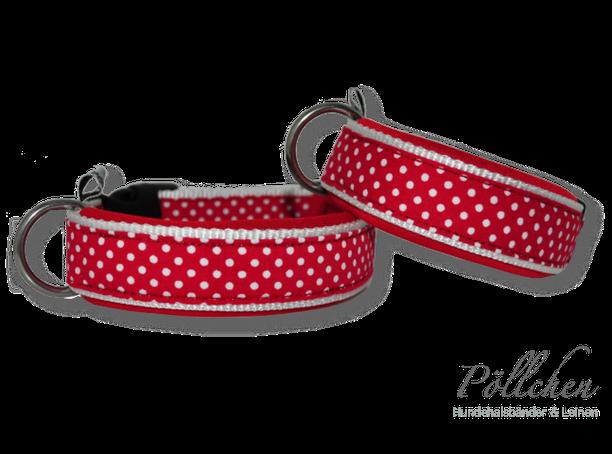 süßes Halsband mit Punkten für Hunde Maßanfertigung