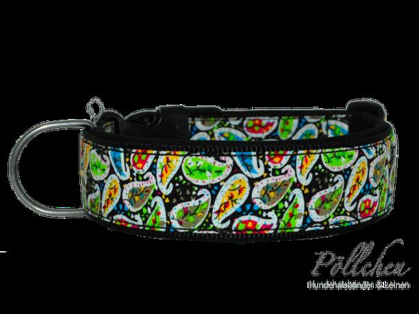 Halsband mit Paisley auf Maß gefertigt Handmade in Hamburg