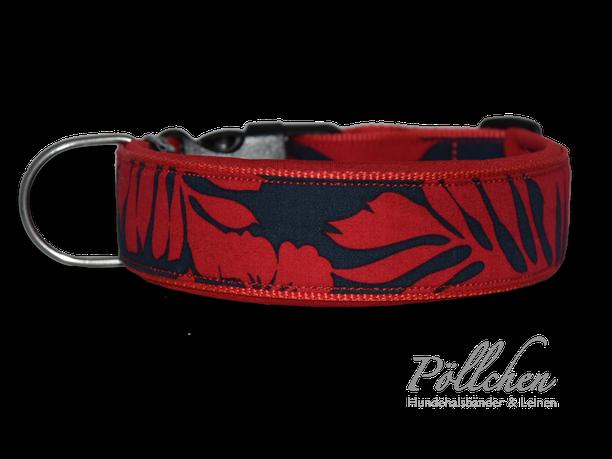 Halsband im Hawaii-Look extrabreit aus Nylon - auch in Übergrößen XXL und Zugstopp bzw. Schlupfhalsband