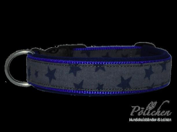 Hundehalsband mit Sternen und Neopren
