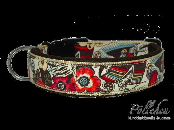 Hundehalsband im mexikanischen Stil mit Neopren extrem stabil