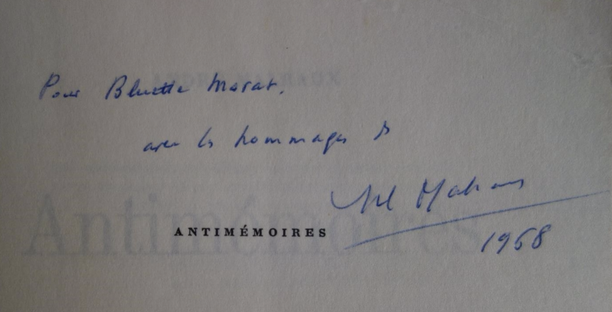 André Malraux, Antimémoires, envoi autographe signé, édition originale, livre rare