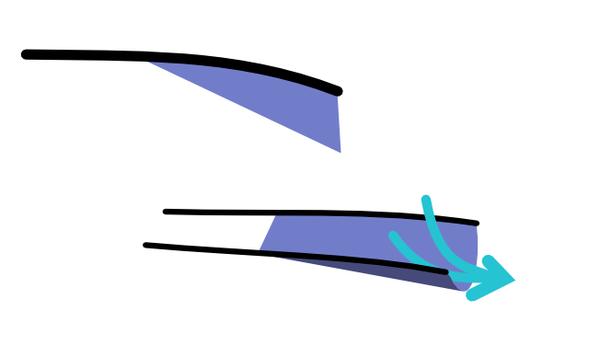 フィンの形状変化