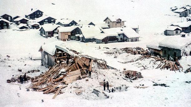 Nach der Katastrophe: Das Haus der Familie Tönz ist völlig zerstört.