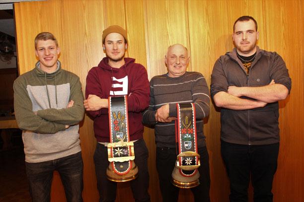 Alle neu: (v.l.) Marco Schnider ist neu Mitglied der HG Balzenwil, Stephan Lanz Jahresmeister im A, Ernst Uhlmann Jahresmeister im B und Philipp Jordi im Vorstand.