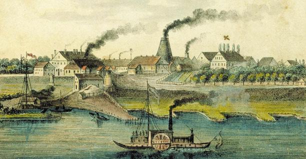 Gernheimer Weserpanorama von 1845
