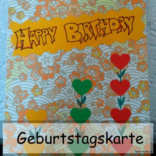 Schnelle und einfache Geburtstagskarte