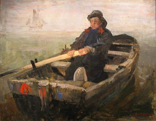 《こぎ手》1883年